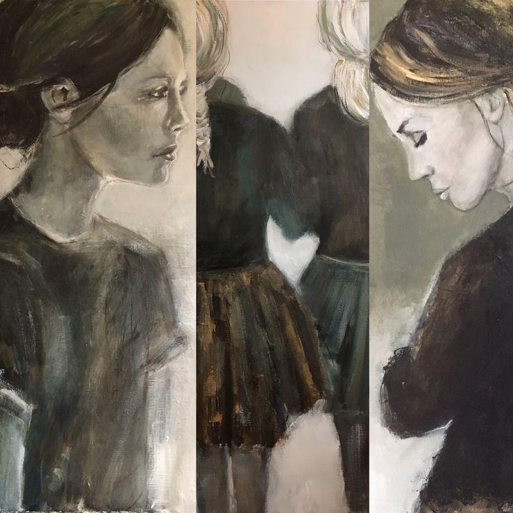 Random figurative art #muted#colors#portretkunst#vrouwfiguur#schilderij