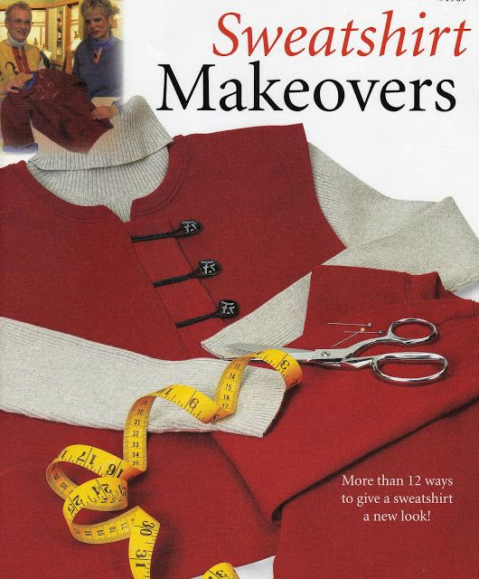 Cafe Hoffy: Sweatshirt Makeovers (Sewing with Nancy) Cute ideas for Christmas presents for Mom...
