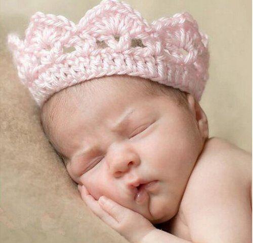 Повязка-корона для новорожденной девочки
