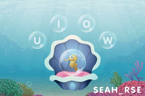 Play Time!  Tickle a seashell until it releases new friends. Each animal that appears has a letter missing from its name. Test memory and spelling by bursting the bubble with the correct letter inside.