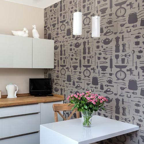 23 best Kitchen Wallpaper images on Pinterest | Kitchen wallpaper ...
