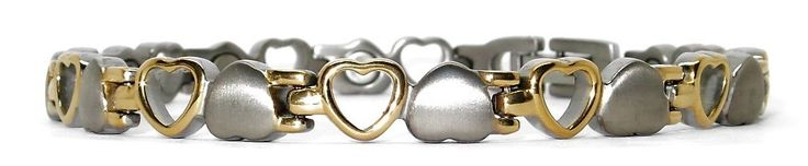 Opposites Attract - Pure Titanium Magnetic Therapy Bracelet-- - WellnessMarketer