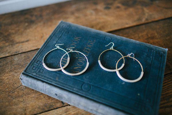 Metal Tube Earrings - Magnolia Market   Chip & Joanna Gaines