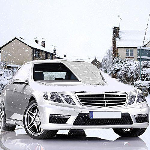 Couverture pare-brise voiture, Aufeel Magnétique Pare-brise Voiture, Voiture Bache de protection auto pour Anti UV, pluie,givre glace &…