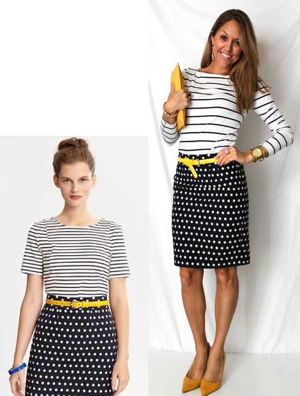 Polka dots + stripes from J's Everyday Fashion!