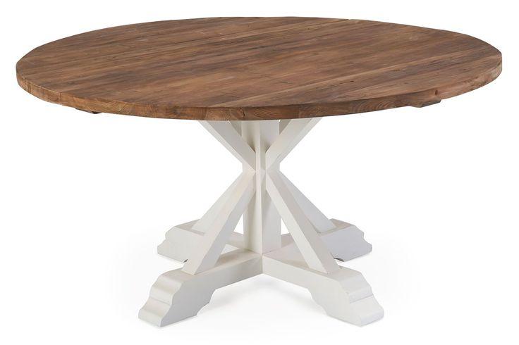 Köp Matbord Yorkshire Runt 150 Återv. Barrträ Natur/vit från Chilli för endast 5 995 kr. Fraktfritt och fria returer!
