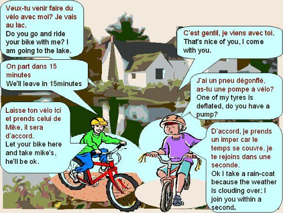 proposer faire du vélo