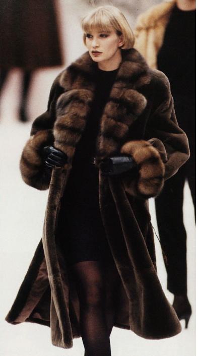 sable & sheared mink fur coat