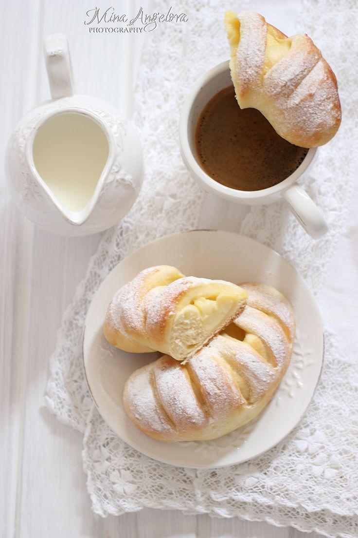 Angellove's Cooking: Ванилови крем кифлички / Vanilla Pudding Crescent Rolls