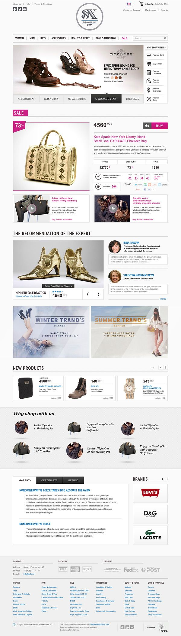 SX Fashion Brand Shop on Web Design Served #web #design #webdesign #site #layout #website #e-commerce #commerce #ecommerce #www #online