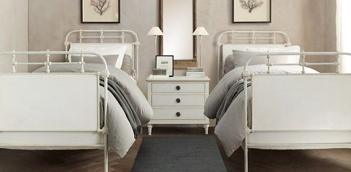 Furniture restoration hardware girls bedroom ideas for Restoration hardware bedside tables