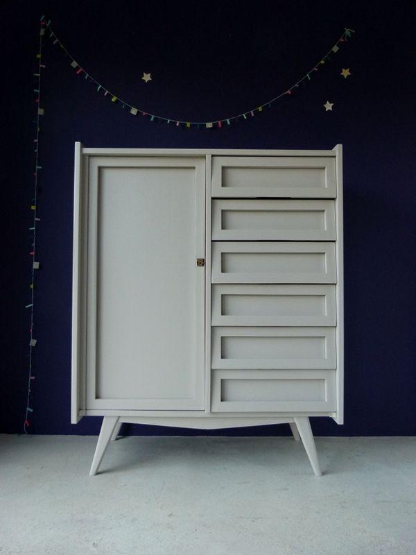 60 39 s cabinet dove grey atelier charivari timeless mobilier de salon d coration chambre - Deco chambre annee 60 ...