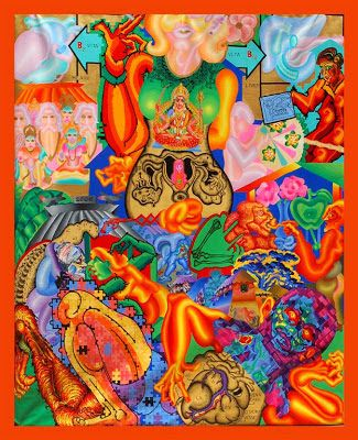 ARTIST ANIRBAN MITRA: OLD PAINTINGS PART 3 (2006 - 2007)