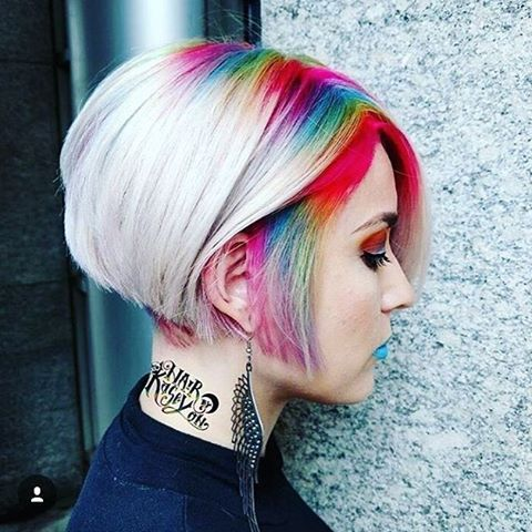 """1,014 Likes, 16 Comments - Laura Conroy (@glamslamproductions) on Instagram: """"Spring is here! Enjoy all the colors with #rainbowroots @hairbykaseyoh @evanturnerhair awesome…"""""""