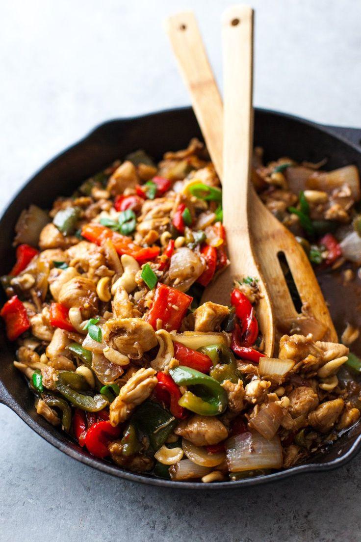 20 Minute Cashew Chicken Recipe {Paleo, Gluten-Free, Clean Eating, Dairy-Free}
