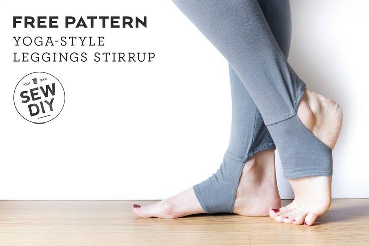 Today I'm really excited to share a new FREE pattern and tutorial over on the BERNINA USA blog, We All Sew. Lately I've noticed a resurgence of stirrup leggings and I've especially loved this yoga-style stirrup that covers the center part of the foot. It's the perfect way to keep your feet w