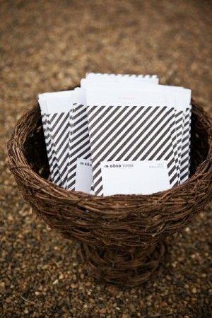 Oh So Beautiful Paper: Wedding Stationery Inspiration: Black + White Stripes