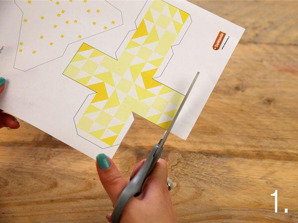 TUTORIAL - Decorazione geometrica origami - creare con la carta su DaWanda