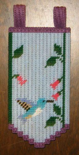 HUMMINGBIRD VALANCE PLASTIC CANVAS PATTERN