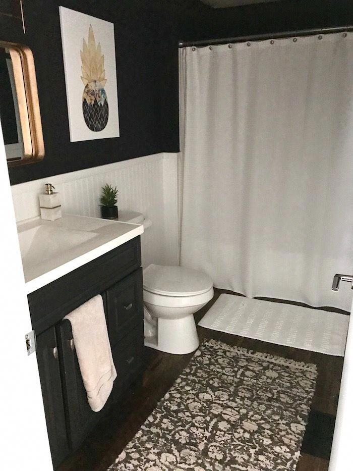 A Modern Small Bathroom Update On A Budget Really Like This