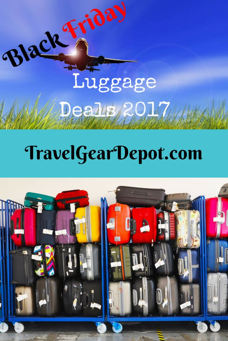 Stay tuned for the ultimate luggage deals on this years Black Friday and Cyber Monday! We will be on the lookout for you!