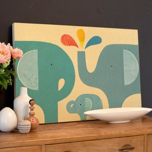Elephant Family Jumbo Wood Panel now featured on Fab...I could make this if anyone would like one.