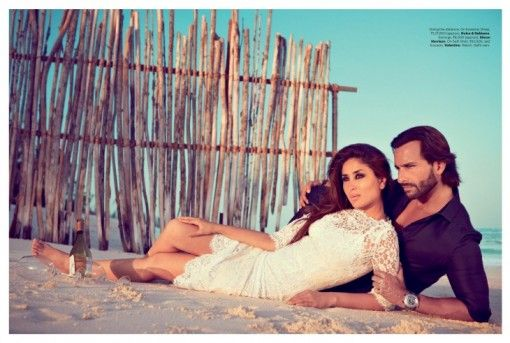 Saif Ali Khan and Kareena Kapoor Harpers Bazaar Shoot via IndianWeddingSite.com