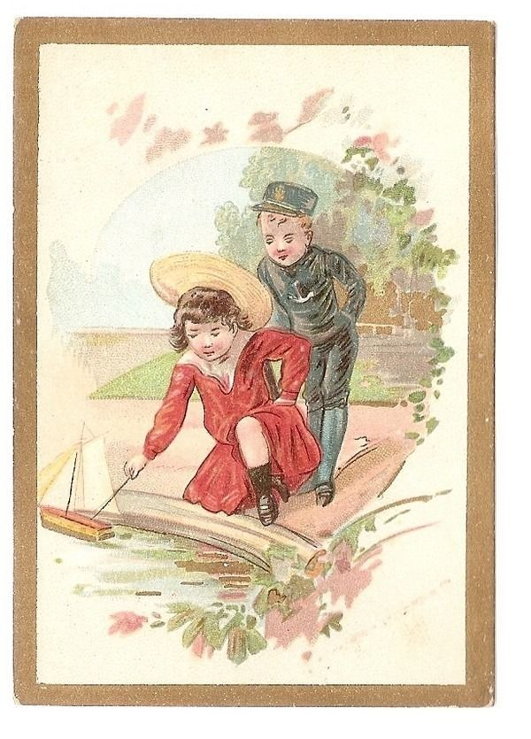 Le Petit Bateau - - Jeu d' Enfant Bassin Chapeau  - Chromo - Trade Card