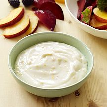 Lemon and ginger give this yogurt dip a bright note. Spoon it over berries or angel food cake, or serve it with apple wedges for dipping.