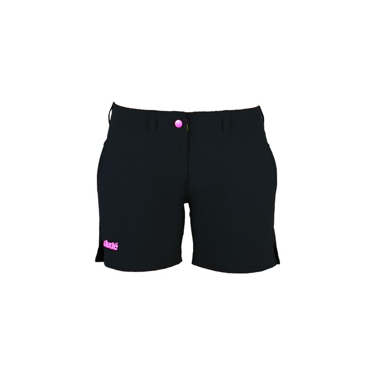 """Ladies Disc Golf Apparel - LADIES PRO SHORTS 5"""" INLEG  Set yourself free with a pair of Dude Pro Shorts. Perfect for a day on the course or just about any other activity you plan to be in. The high quality breathable Evol-Dry fabric wicks moisture easily so you stay comfy even on the hottest days and is super light weight and quick drying. For more details, visit https://www.dudeclothing.com/collections/ladies/products/ladies-pro-shorts?variant=17935530373"""