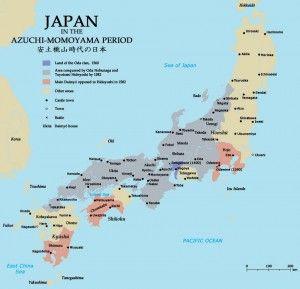 "1500s - during Sengoku Period. ( credits: Zakuragi Creative Commons)The period culminated with a series of three warlords, Oda Nobunaga, Toyotomi Hideyoshi, and Tokugawa Ieyasu, the unifiers of Japan. After Tokugawa Ieyasu's final victory at the siege of Osaka in 1615, Japan settled down into several centuries of peace under the Tokugawa Shogunate, and entered into an era called ""Sakoku"". (wiki)"