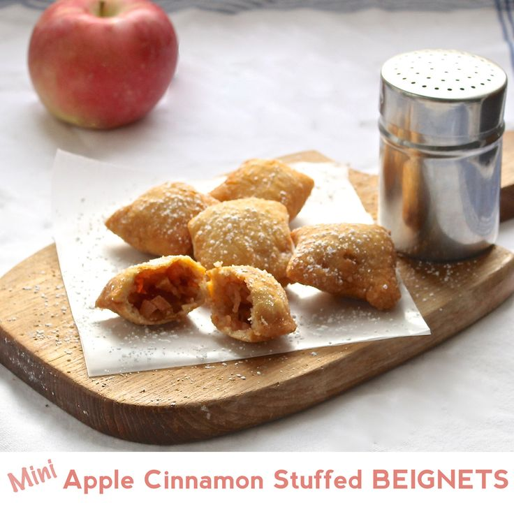 mini apple cinnamon stuffed beignets mini apple beignet vegan friendly ...
