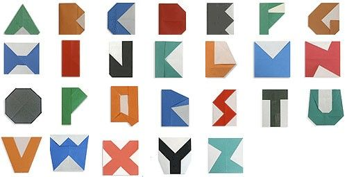 No iPad, no iPhone: fold the entire alphabet with this origami tutorial - beautiful!