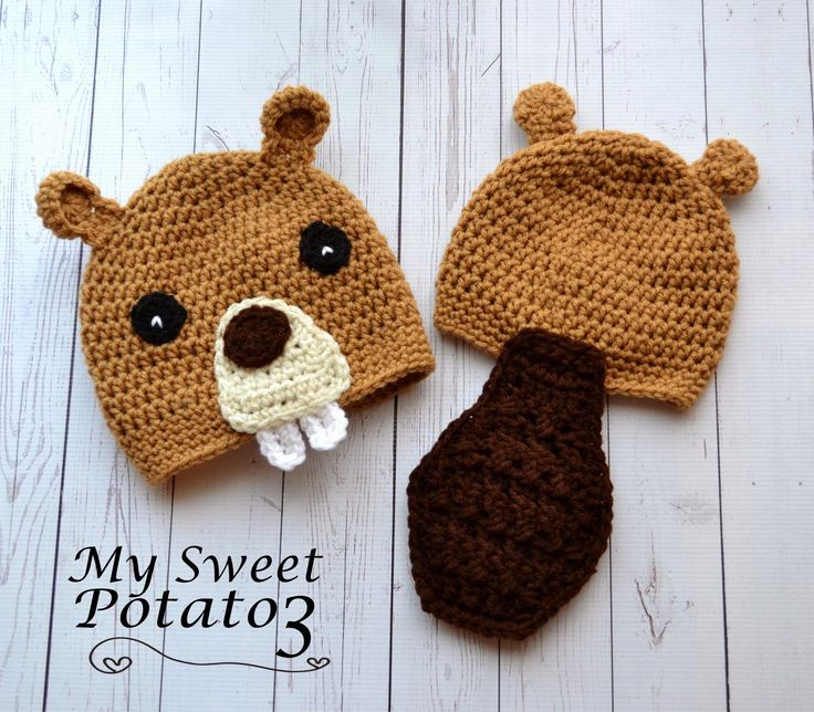 My Sweet Potato 3: Crochet Beaver Hat Pattern Release sizes from newborn up to adult
