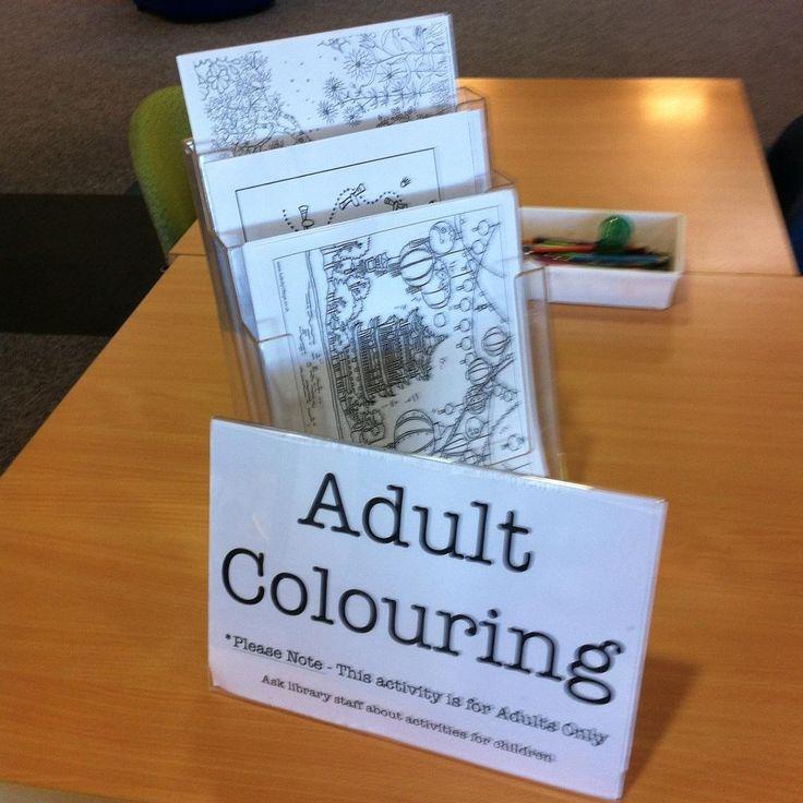 Adult colouring at Tamworth Library #nswpubliclibraries