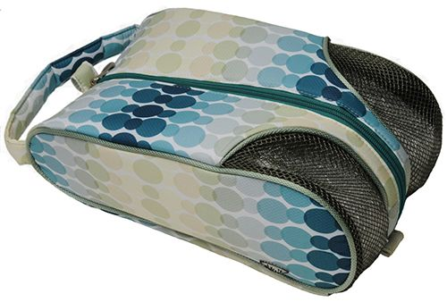 Check out what @lorisgolfshoppe has for your days on and off the golf course! Glove It Ladies Golf Shoe Bags - Aqua Rain