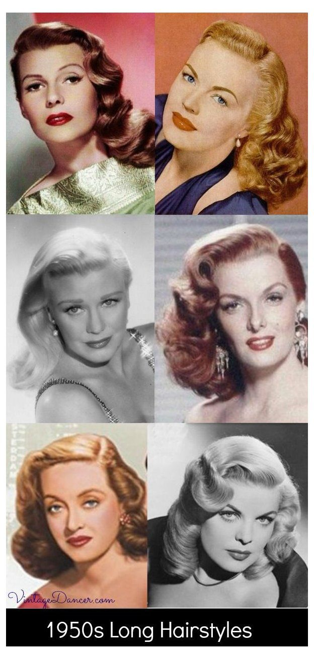 1950s Hairstyles 50s Hairstyles From Short To Long 1950s Long Hairstyles Curly Hair Movie In 2020 Vintage Hairstyles For Long Hair 1950s Hairstyles 50s Hairstyles