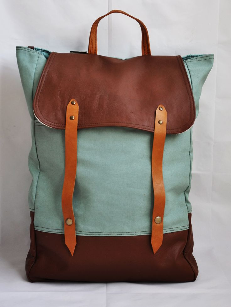 Mint green wonder combined with leather