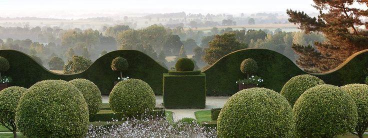 The garden at Le Château de La Ballue, a hotel in Bazouges-la-Pérouse, Brittany, France.
