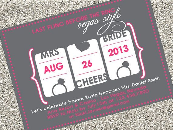 Last Fling Before the Ring Vegas Bachelorette by SouthernSwish, $15.00