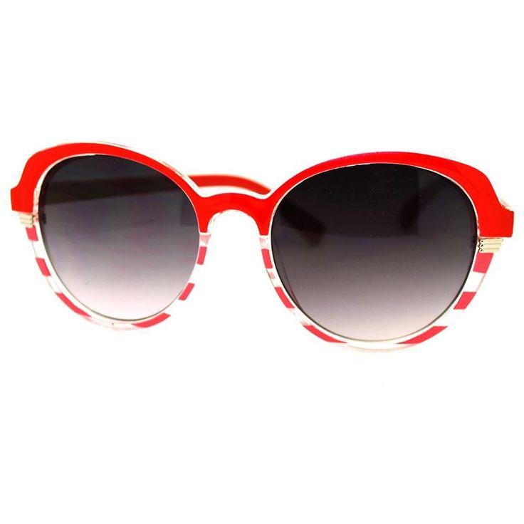 Red Circle Sunglasses Women | Women's Oversized Round Retro Fashion Sunglasses - Silver