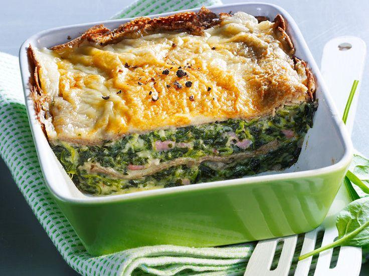 Découvrez la recette Lasagnes aux épinards sur cuisineactuelle.fr.