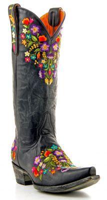 Womens Old Gringo Sora 13inch Boots Black #L841-2 via @Allens Boots