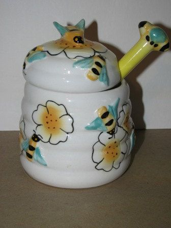 Items Similar To Vintage Style Bumble Bee Honey Jar, Bees In The  Buttermilk, Honey Bee, Buz Honey Comb, Bee Hive Retro Country Kitchen Decor  On Etsy