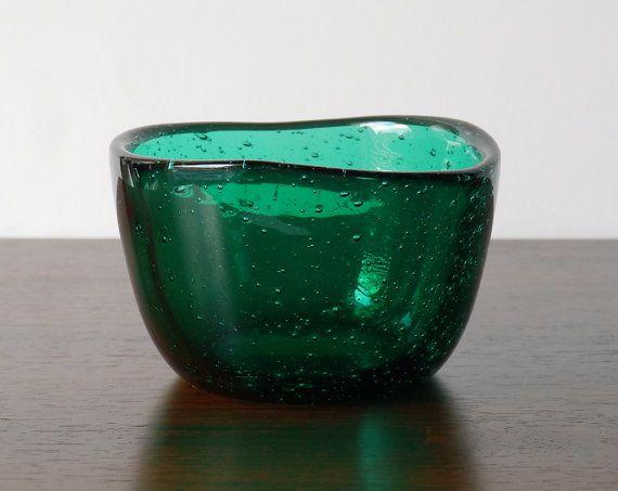 Norwegian Midcentury Modern Hadeland Green Art Glass by NordicForm, £48.00