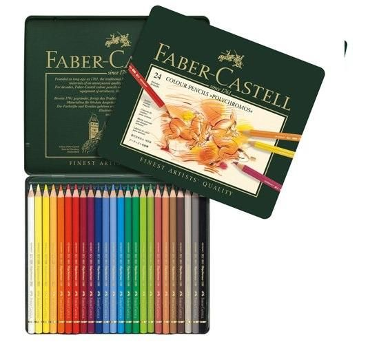 Kredki Polychromos 24 kolory FABER CASTELL