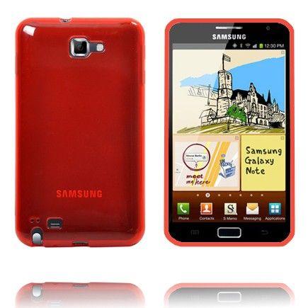 Läpikuultava TPU Muovinen (Punainen) Samsung Galaxy Note Suojakuori