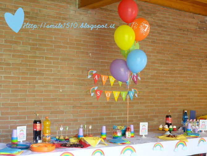 Allestimenti per una festa di compleanno a tema Arcobaleno