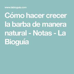 Cómo hacer crecer la barba de manera natural - Notas - La Bioguía