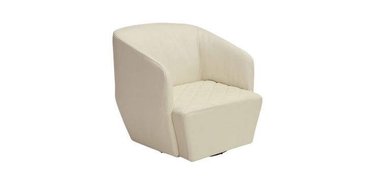 The Emmanuelle swivel #armchair is a #beautiful addition of #softness and #comfort to any room through its inviting #design and #Canadian goose down padding. Available in any #leather or #fabric.
